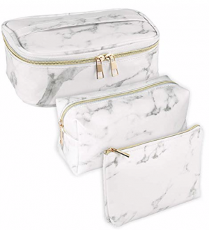 Subang 3 Pack Marble Makeup Bag