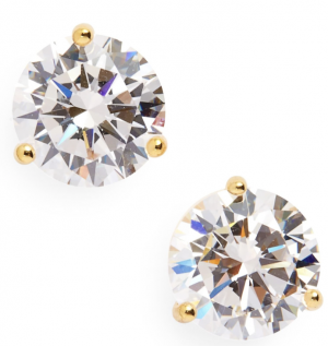 Gold CZ Diamond Studs